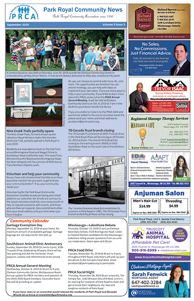 PRCA September 2019 Newsletter Thumbnail Image