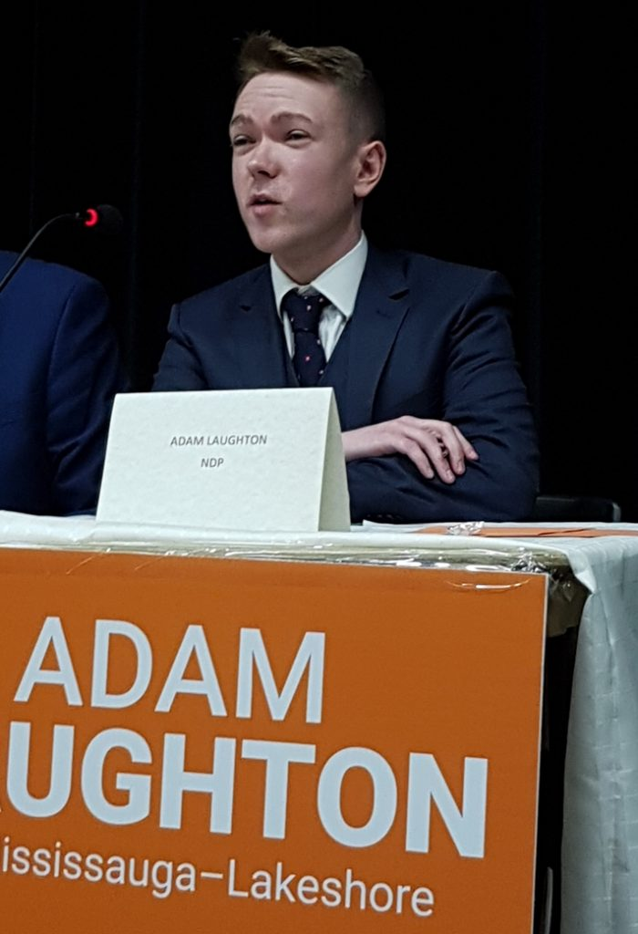 Adam Laughton, NDP candidate