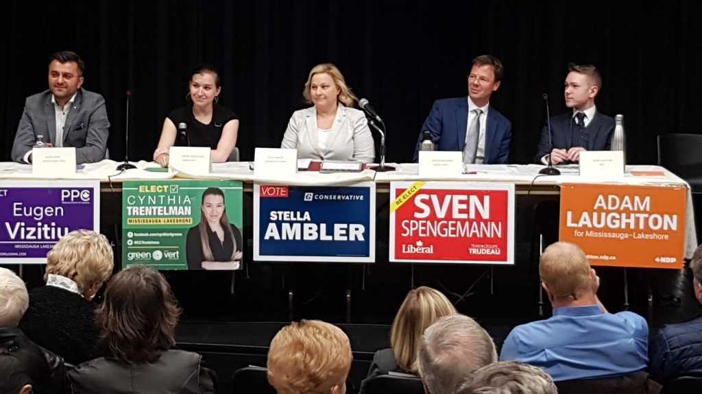 Mississauga-Lakeshore riding candidates for the 2019 Federal election