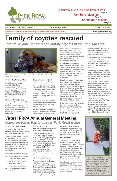 PRCA November 2020 Newsletter